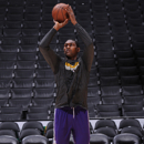 LOS ANGELES, CA - APRIL 7: Metta World Peace #15 of the Los Angeles Lakers warms up prior to a game against the Los Angeles Clippers at Staples Center on April 7, 2013 in Los Angeles, California. (Photo by Andrew D. Bernstein/NBAE via Getty Images)
